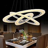 Светильники подвесные в стиле хай-тек 60х8 см, витражные люстры, люстры в стиле хай-тек, люстра, фото 5