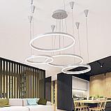 Светильники подвесные в стиле хай-тек 40х8 см, витражные люстры, люстры в стиле хай-тек, люстра, фото 3