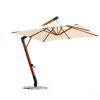 Зонт Wood Lux, 3х3м, квадратный, бежевый (Доставка+Установка)