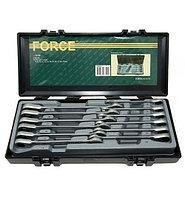Набор ключей рожково-накидных с трещоткой 8-19мм. (12пр.) FORCE (51210)