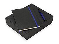 Подарочный набор Jacque с ручкой-подставкой и блокнотом А5, синий