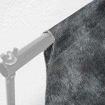 Студийный дизайнерский (ручная работа) фон 6 м × 3 м ЧЁРНЫЙ, фото 3