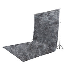 Чёрный фон 6х3 м Студийный, тканевый-дизайнерский (ручная работа), фото 3