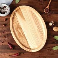 Блюдо-доска для подачи и нарезки 'Овал', 35 х 25 см, массив ясеня