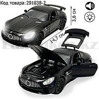 Игрушка детская машинка металлическая с свето-звуковым эффектом Die-Cast Metal Model Car 1:32 Mini черная