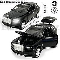 Игрушка детская машинка металлическая с свето-звуковым эффектом Die-Cast Metal Model Car 1:32 Jeep черный