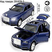 Игрушка детская машинка металлическая с свето-звуковым эффектом Die-Cast Metal Model Car 1:32 Jeep голубая