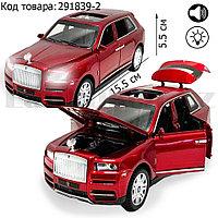 Игрушка детская машинка металлическая с свето-звуковым эффектом Die-Cast Metal Model Car 1:32 Jeep красная