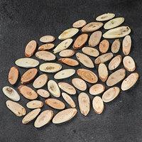 Набор овальных спилов 'Ассорти лесное', акация, дуб, лиственница, ель, сосна, 50 шт