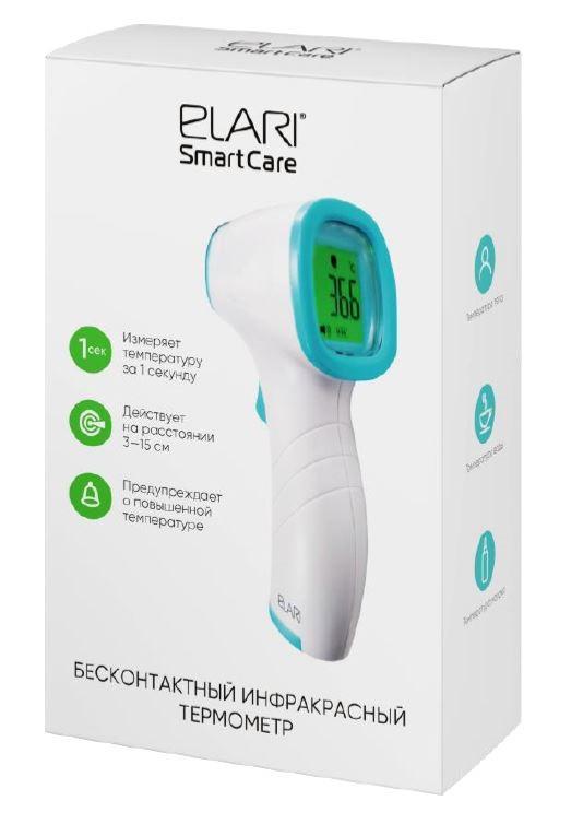 Бесконтактный инфракрасный термометр Elari SmartCare белый