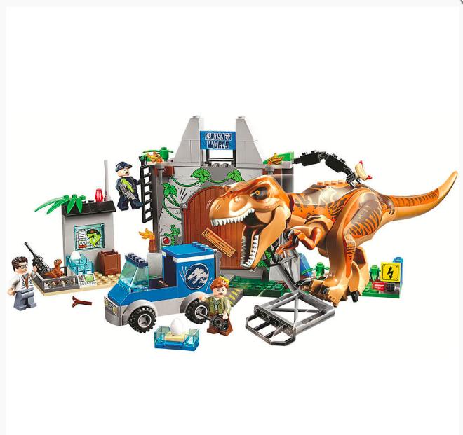 """Конструктор 10920 Bela """"Юрский период. Побег Ти-Рекса"""" 168 деталей, аналог Lego 10758 - фото 2"""