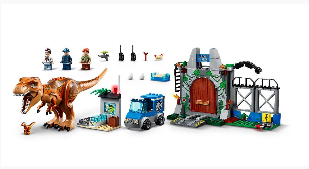 """Конструктор 10920 Bela """"Юрский период. Побег Ти-Рекса"""" 168 деталей, аналог Lego 10758 - фото 3"""