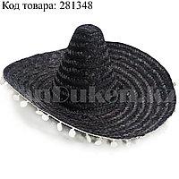Шляпа карнавальная сомбреро темно-серая