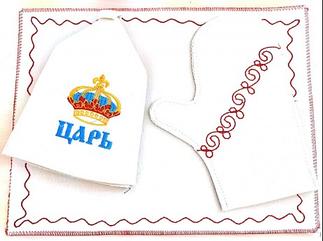 Банные наборы (шапка, коврик, рукавица)