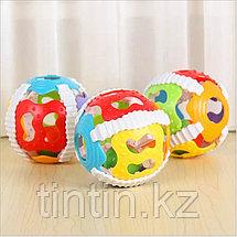 Резиновый мяч 10 см, со светом и звуком, фото 3