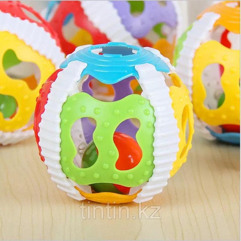 Резиновый мяч 10 см, со светом и звуком