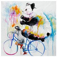 Картина Panda With Bike (100х100) Dp-0064/0