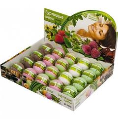 Бурлящие шары для ванны (липа, шоколад, клубника, малина, зеленый чай) в дистплей – боксе