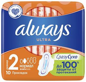 Always прокладки Ultra Normal Plus, 4 капли