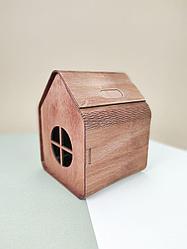 Подарочный ящик Домик. Размер: 12*13*18 см.