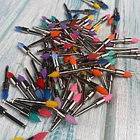 Щетки для полировки цветные маленькие остроконечные