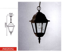 Парковый уличный светильник, >100W, е27, IP44 (Габариты, мм: 184*1058)