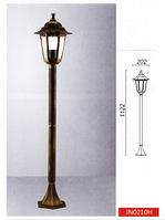 Парковый уличный светильник, >60W, е27, IP44 (Габариты, мм: 202х1122)