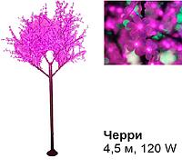 Светодиодное Led дерево «Черри», розовое, 4,5 м, 120 W (Мощность, Вт: 120)