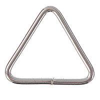 Основа для брелока, соединительный элемент треугольник, серебристый (набор 80 шт)