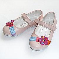 Туфельки MiniCan нежнорозовые с цветочком арт102032