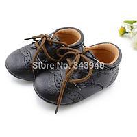 Пинетки на мальчика Черные ботинки