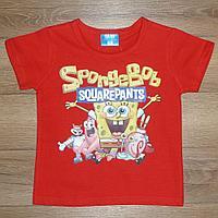 Футболка красная SpongeBob (1-2 года )