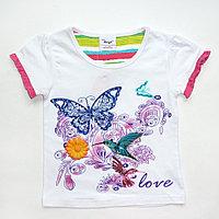 Костюм 2в1 с бабочкой футболка+лосины