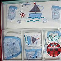 Подарочный набор для новорожденного мальчика 10в1, 0-3мес.