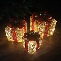 Новогодняя led фигура Три Подарка, 16 см, 20 см, 25 см
