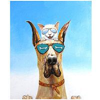 Картина Dog&Cat (120x90) Dp-0041/0