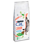 Cat Chow Sensitive для чувствительного пищеварения, лосось