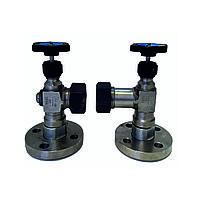 Запорное устройство вентильного типа указателя уровня фланцевое стальное 12нж27бк ТУ 25-07-418-87