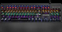 Клавиатура проводная игровая механическая Defender Reborn GK-165DL,anti-ghost,радужная (Черный), USB