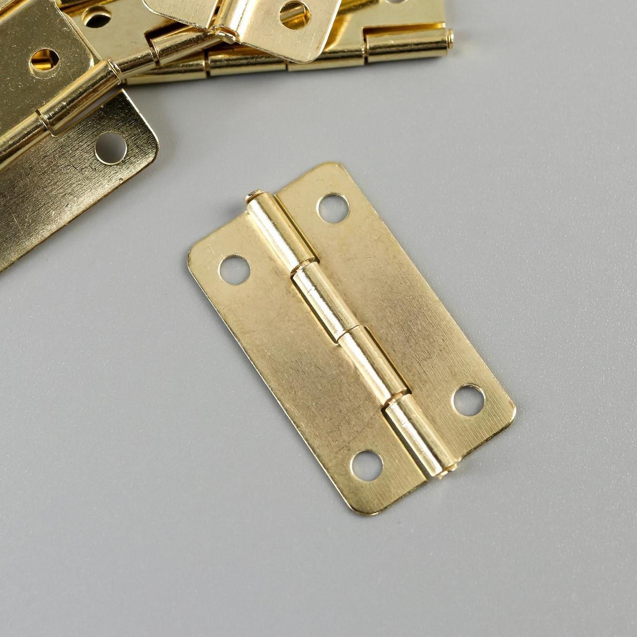 Петля для шкатулки с закругленными углами 1,6х3 см В-016 (30 штук)