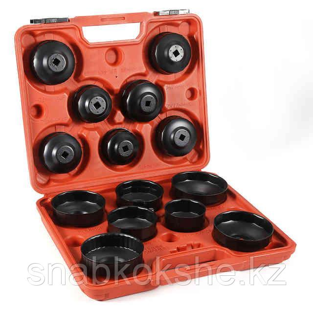 ST075 Комплект чашек для демонтажа маслянных фильтров 65-100мм, 15шт