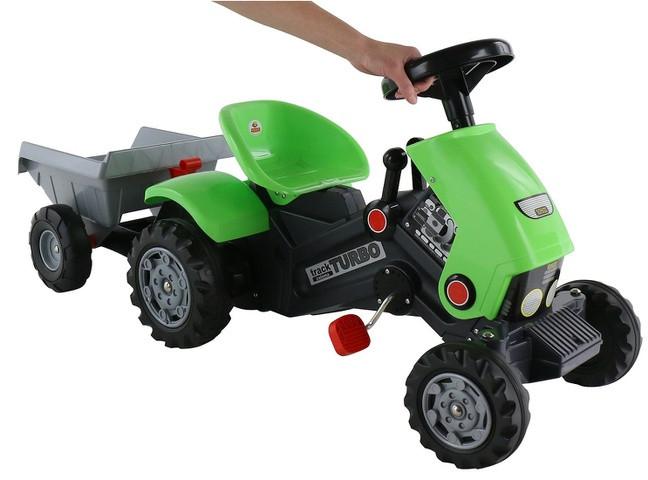 Детский педальный трактор Turbo-2 c полуприцепом - фото 2