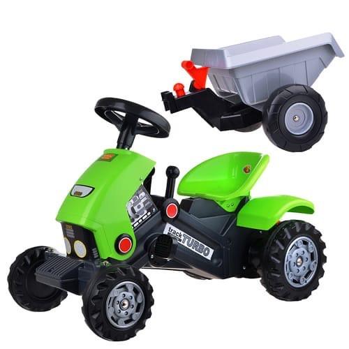 Детский педальный трактор Turbo-2 c полуприцепом - фото 3