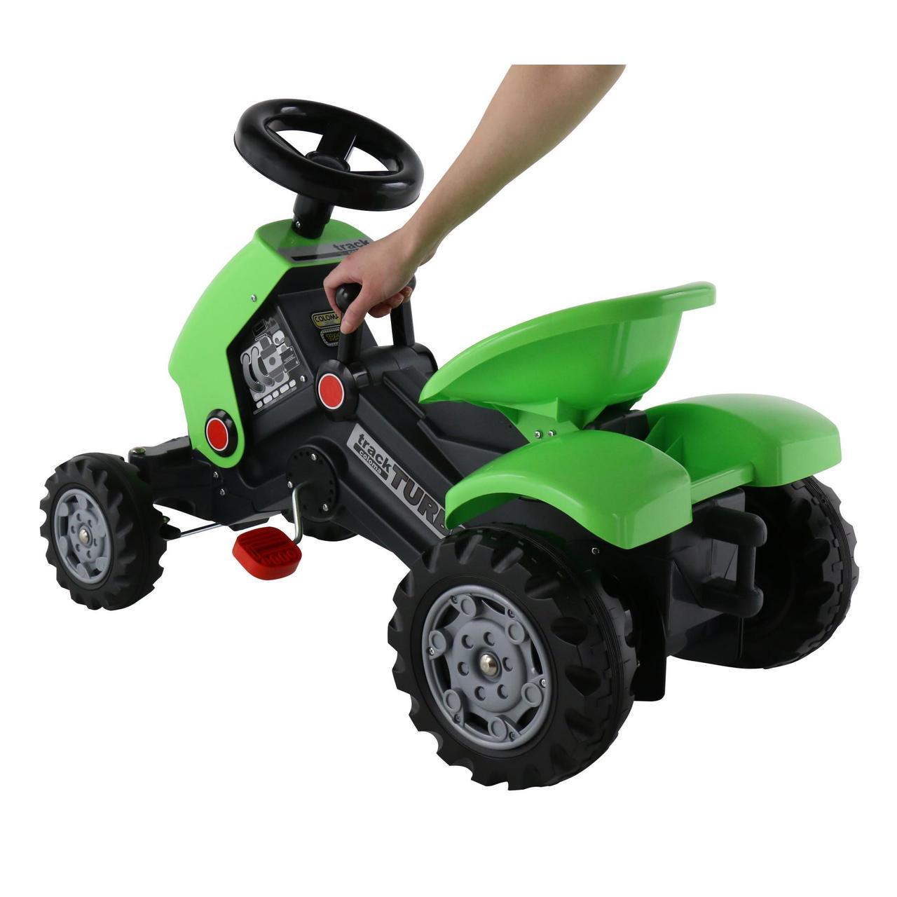 Детский педальный трактор Turbo-2 c полуприцепом - фото 4