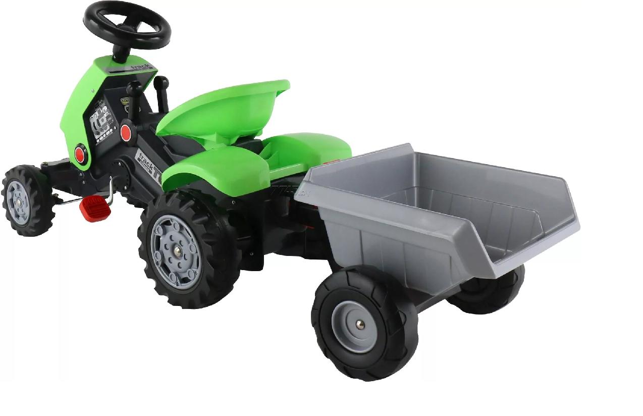 Детский педальный трактор Turbo-2 c полуприцепом - фото 5