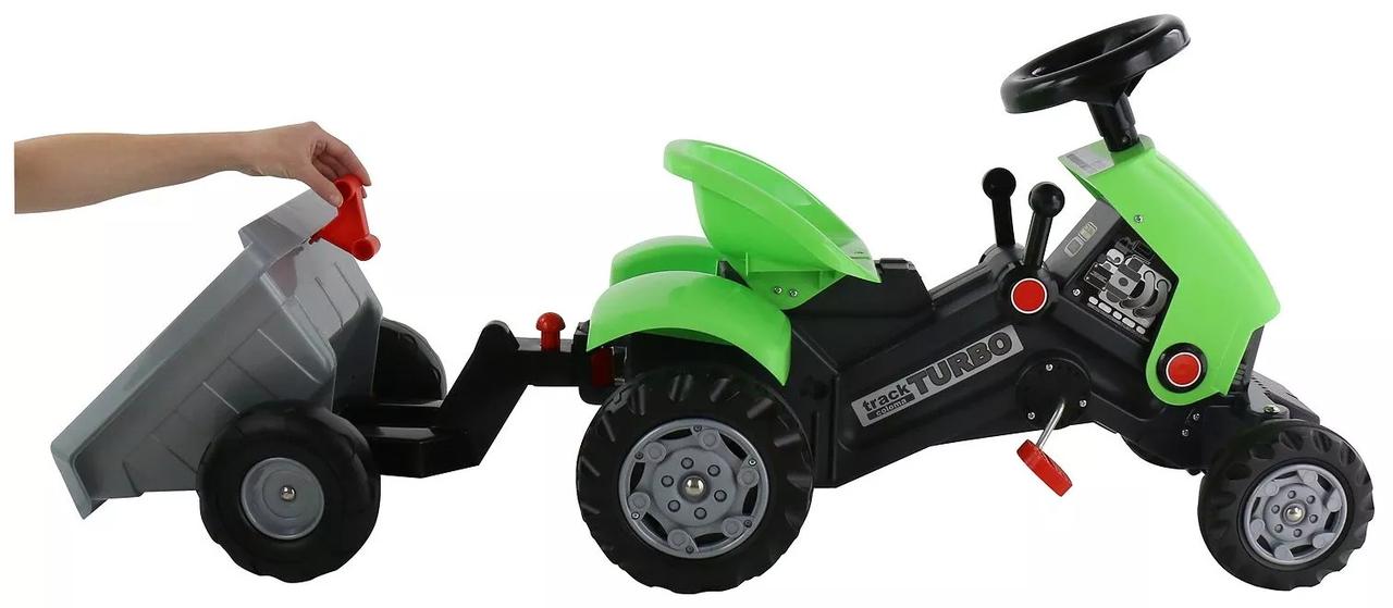 Детский педальный трактор Turbo-2 c полуприцепом - фото 6