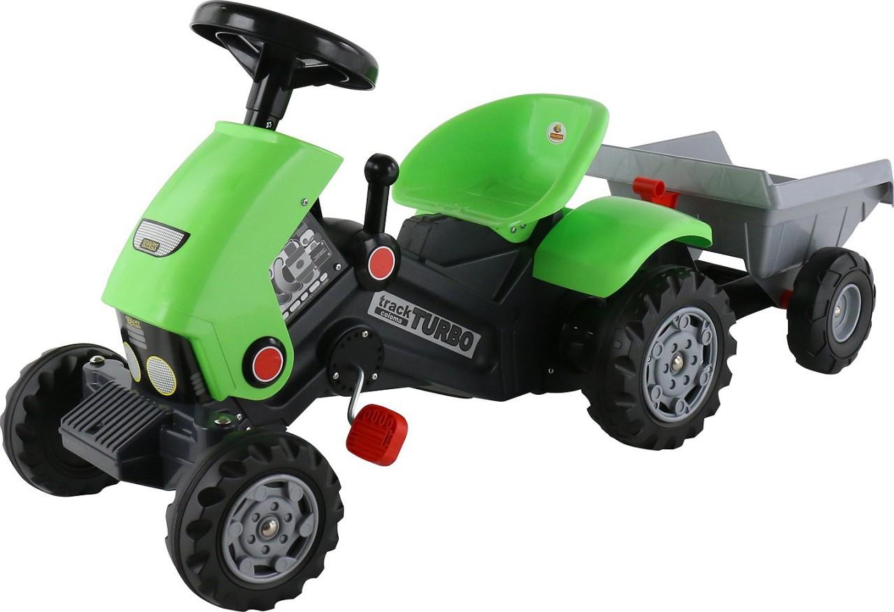 Детский педальный трактор Turbo-2 c полуприцепом - фото 1