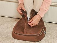 Вибромассажер-грелка для ног 2-в-1 с застежкой Зимняя распродажа!