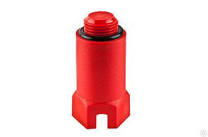 Заглушка-пробка длинная 1/2 красная
