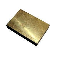 Плита бронзовая 100х2000 мм БрХ1 (CuCr1) ТУ 48-21-779-85 горячекатаная